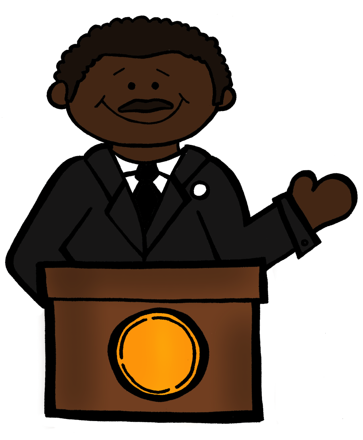 jpg free library Mlk clipart illustration. Busy bees january just.