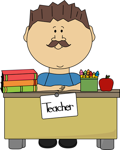 royalty free Male teacher school clip. Abc clipart practice teaching