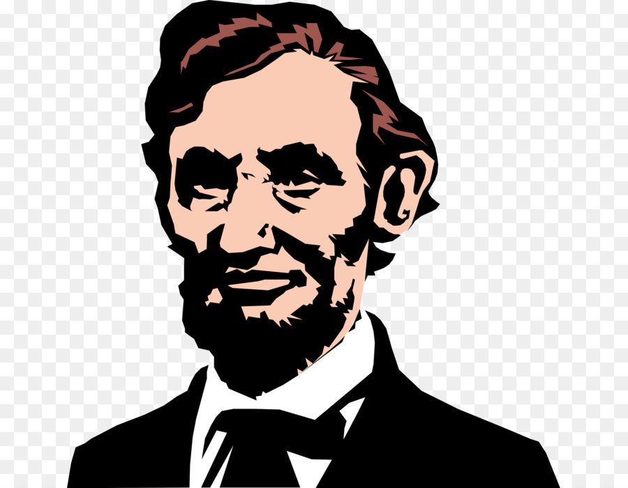 vector freeuse stock Hair cartoon illustration drawing. Abraham lincoln clipart aberaham