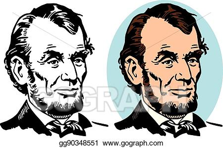 graphic stock Vector illustration . Abraham lincoln clipart aberaham