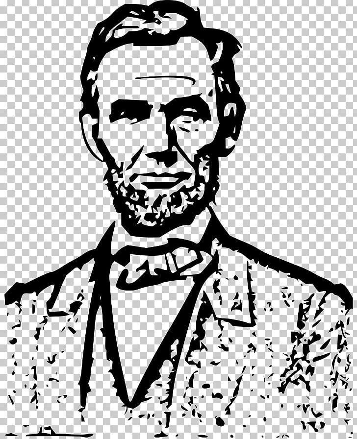 graphic black and white stock Outline of president the. Abraham lincoln clipart aberaham