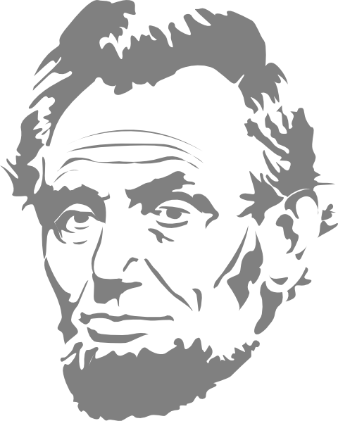 clipart transparent library Abe clip art at. Abraham lincoln clipart head