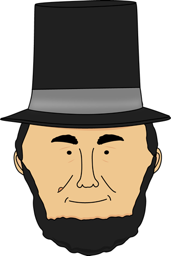 clipart free stock Face . Abraham lincoln clipart head