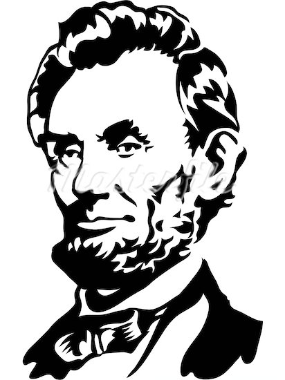 clip transparent Clip art library . Abraham lincoln clipart outline.