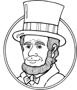 graphic free . Abraham lincoln clipart outline.