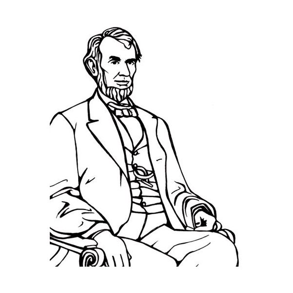 png black and white library Abraham lincoln clipart outline. Free abe download clip.