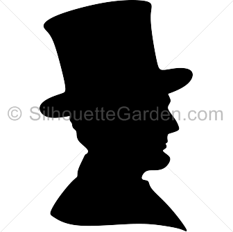 graphic library stock Abraham lincoln clipart outline. Silhouette clip art download