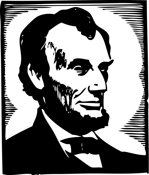 graphic library Abraham lincoln clipart stencil. File clip art svg