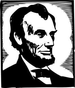 graphic library File clip art svg. Abraham lincoln clipart stencil