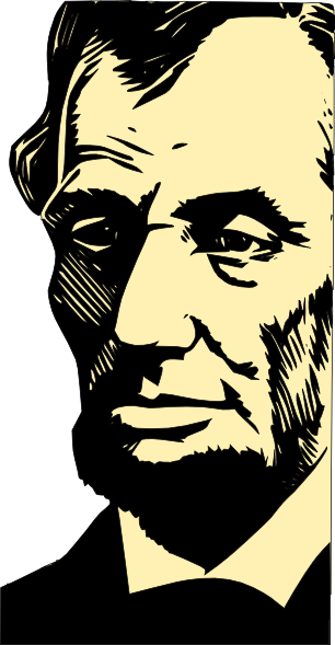 clip art Clip art at clker. Abraham lincoln clipart stencil