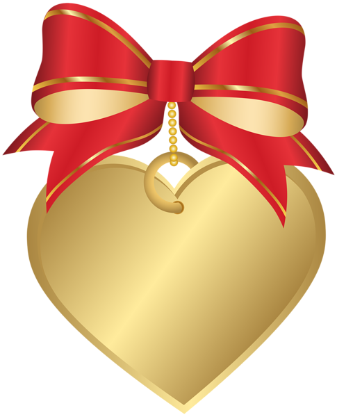 picture freeuse library Gold heart with red. Accents clipart dtp.