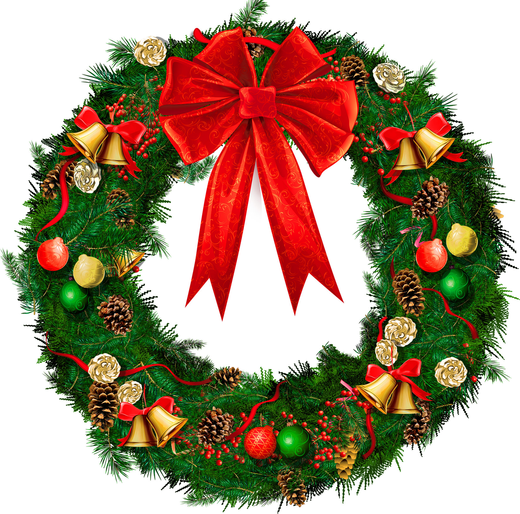 svg library library Wreath clipart transparent background. Christmas with red bow