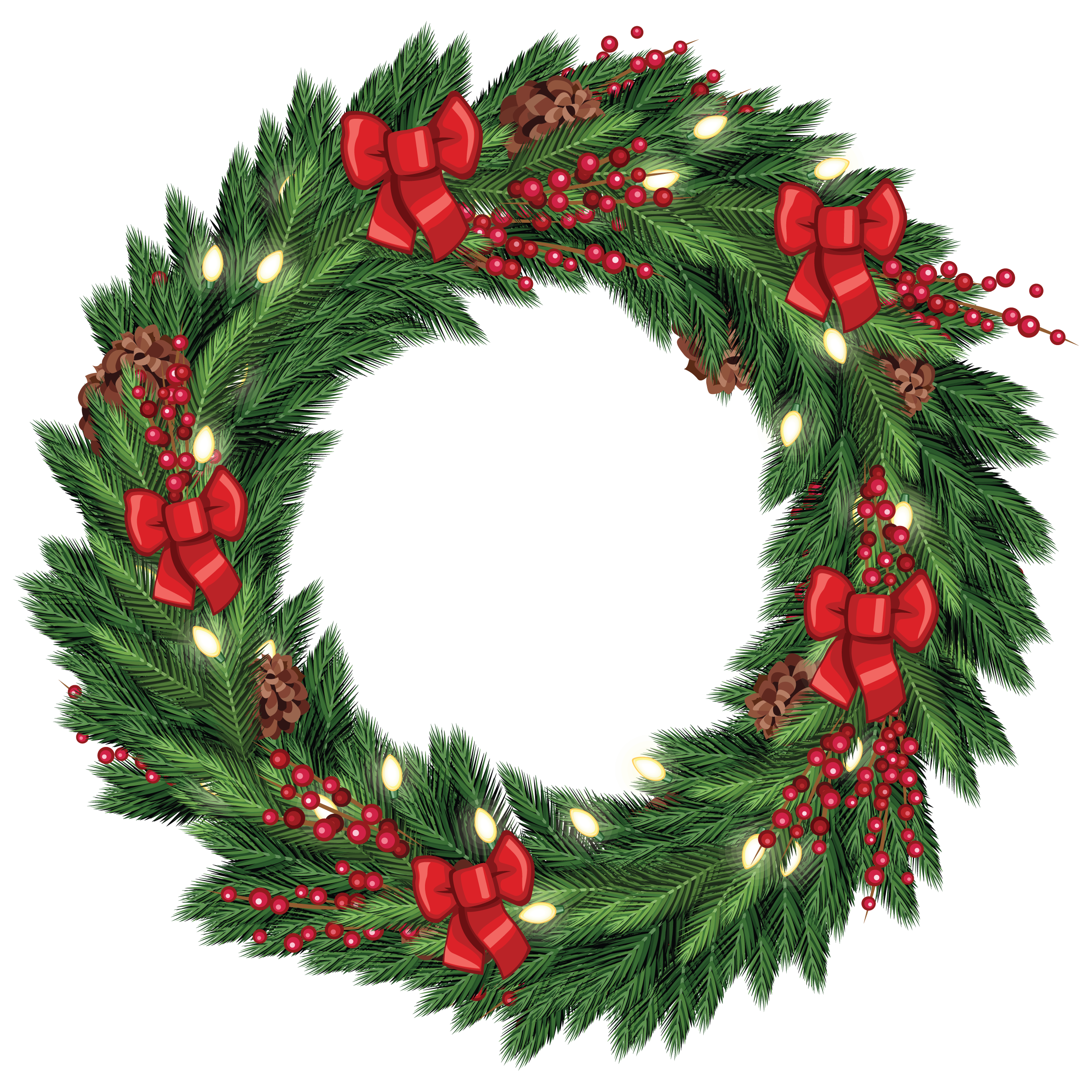 graphic freeuse download Accents clipart garland wreath. Free christmas graphic from.