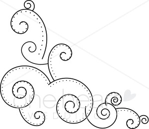 png freeuse download Accents clipart wedding. Dotted scroll