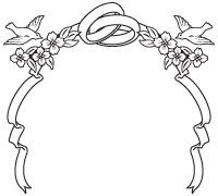 banner library library Accents clipart wedding. Ring symbol frames borders