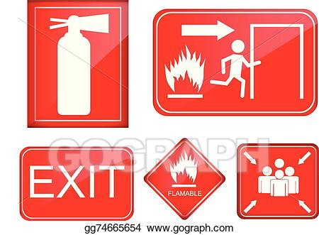 clip black and white Accident clipart fire accident. Eps illustration set of