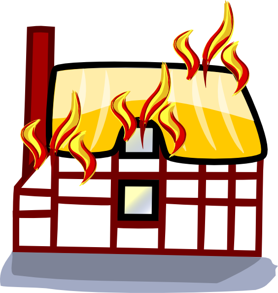 clip art royalty free stock House insurance clip art. Accident clipart fire accident