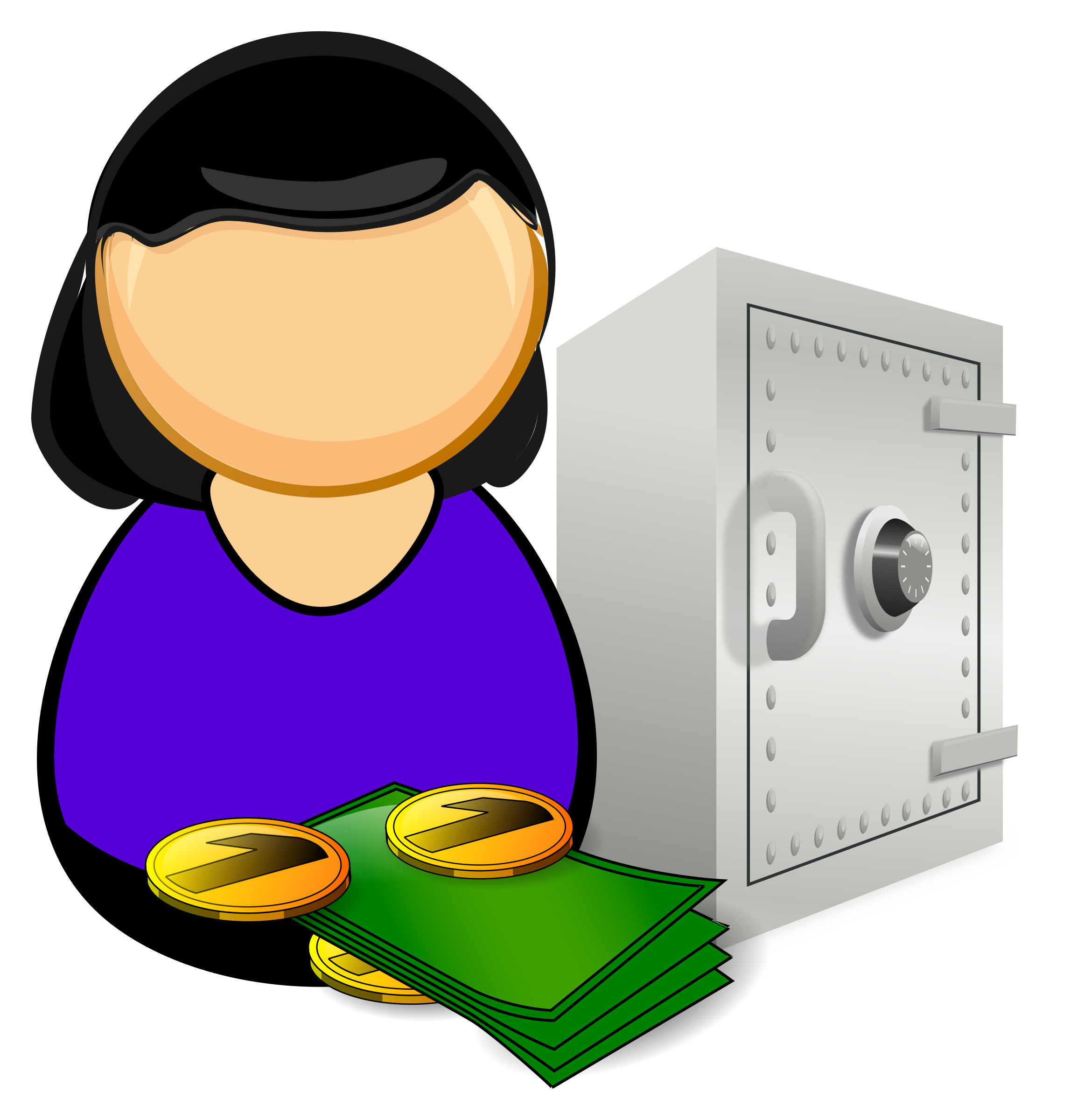 clipart Accountant clipart. Bank officer big image