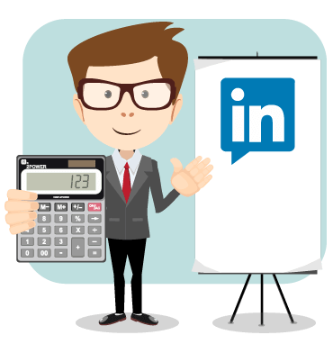 library S guide to linkedin. Accountant clipart accounting background
