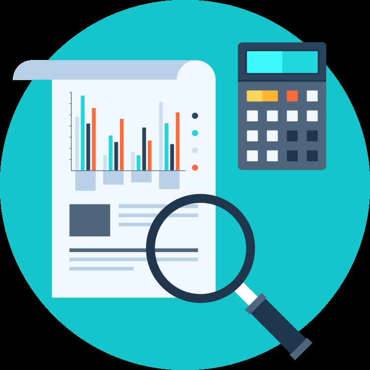 vector transparent Internal audit control computer. Accountant clipart auditor