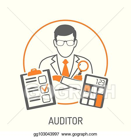 svg black and white library Accountant clipart auditor. Vector stock and accounting