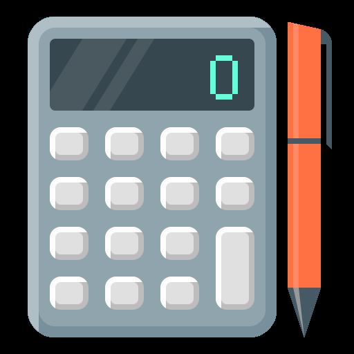 jpg library download Vector calculation flat. Calculate accountant math calculator