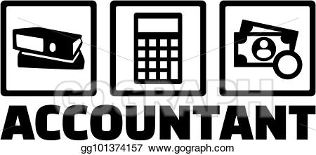 graphic library stock Eps vector icons with. Accountant clipart job