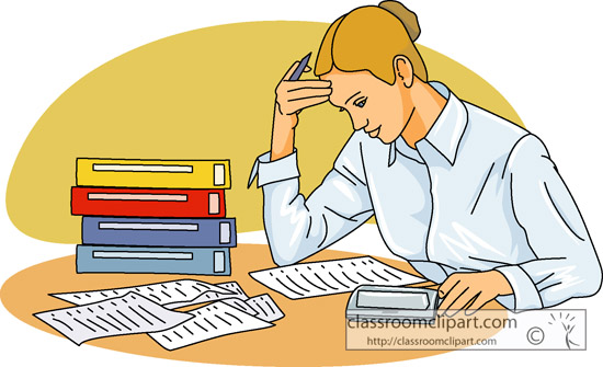 vector freeuse library Accountant clipart job. Accounting student