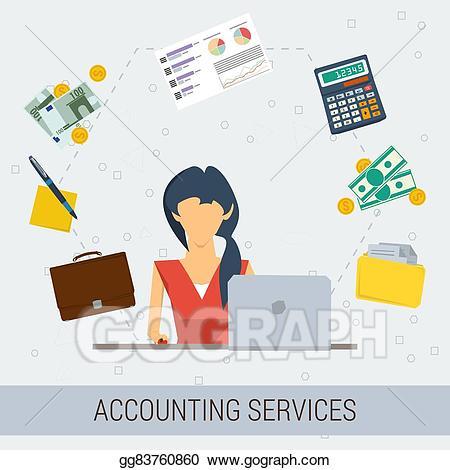 image library Clip art vector accounting. Accountant clipart job