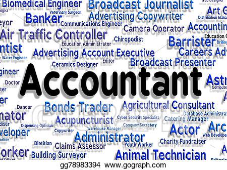 vector stock Stock illustration means balancing. Accountant clipart job