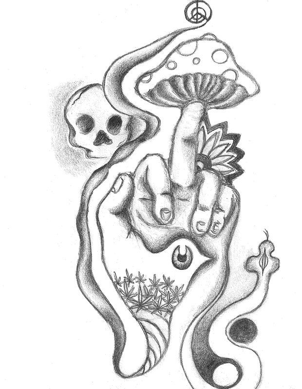 svg black and white library Pin on acid art. Nails drawing trippy