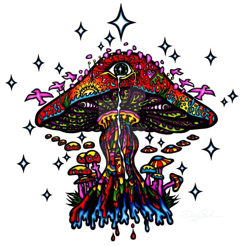 svg royalty free library Psychedelic Mushroom by sandersartgallery