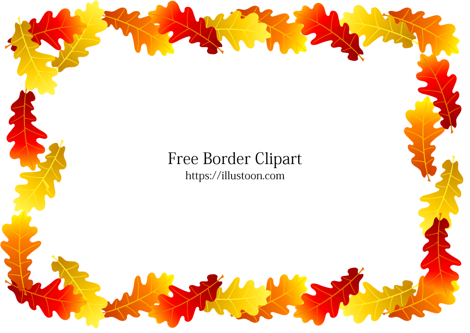 svg transparent stock Acorn border clipart. Colored leaves free picture