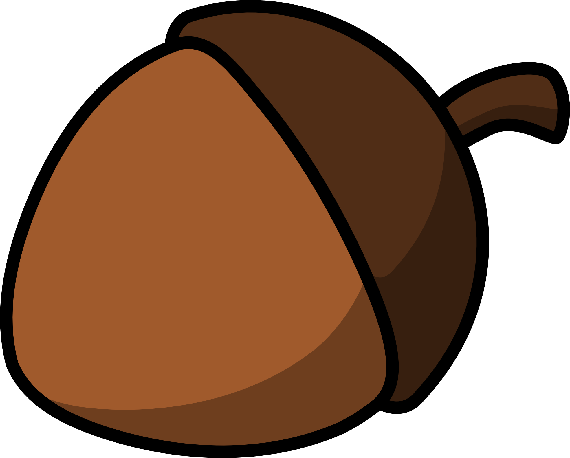clip black and white library Acorn clipart accorn. Free