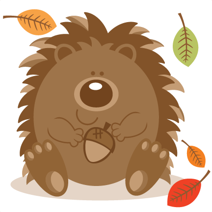 image transparent stock Hedgehog With Acorn SVG scrapbook cut file cute clipart files for