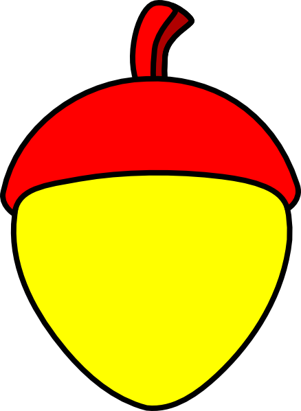 vector library stock With red cap clip. Acorn clipart yellow