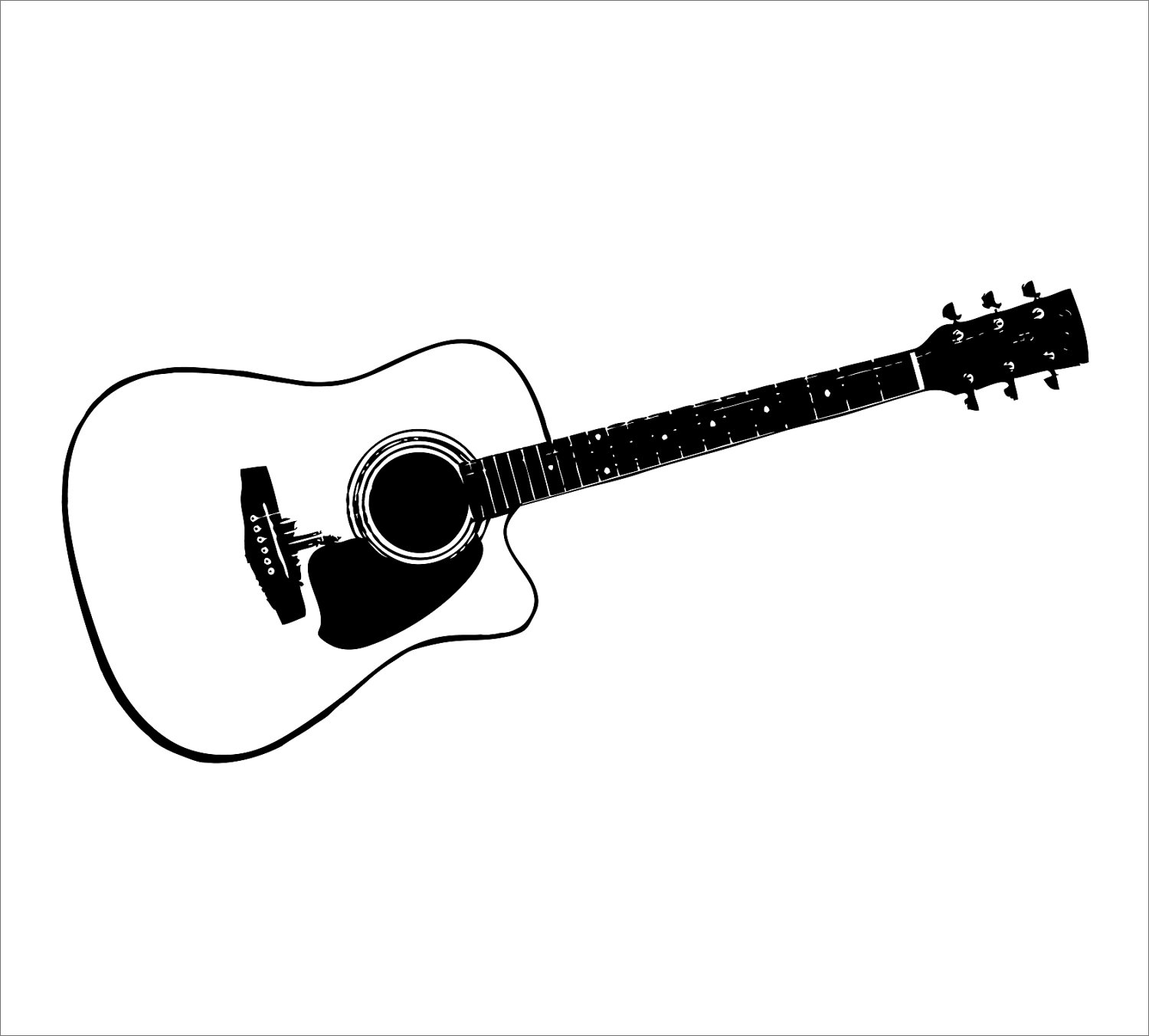 vector royalty free stock Free download clip art. Acoustic guitar clipart