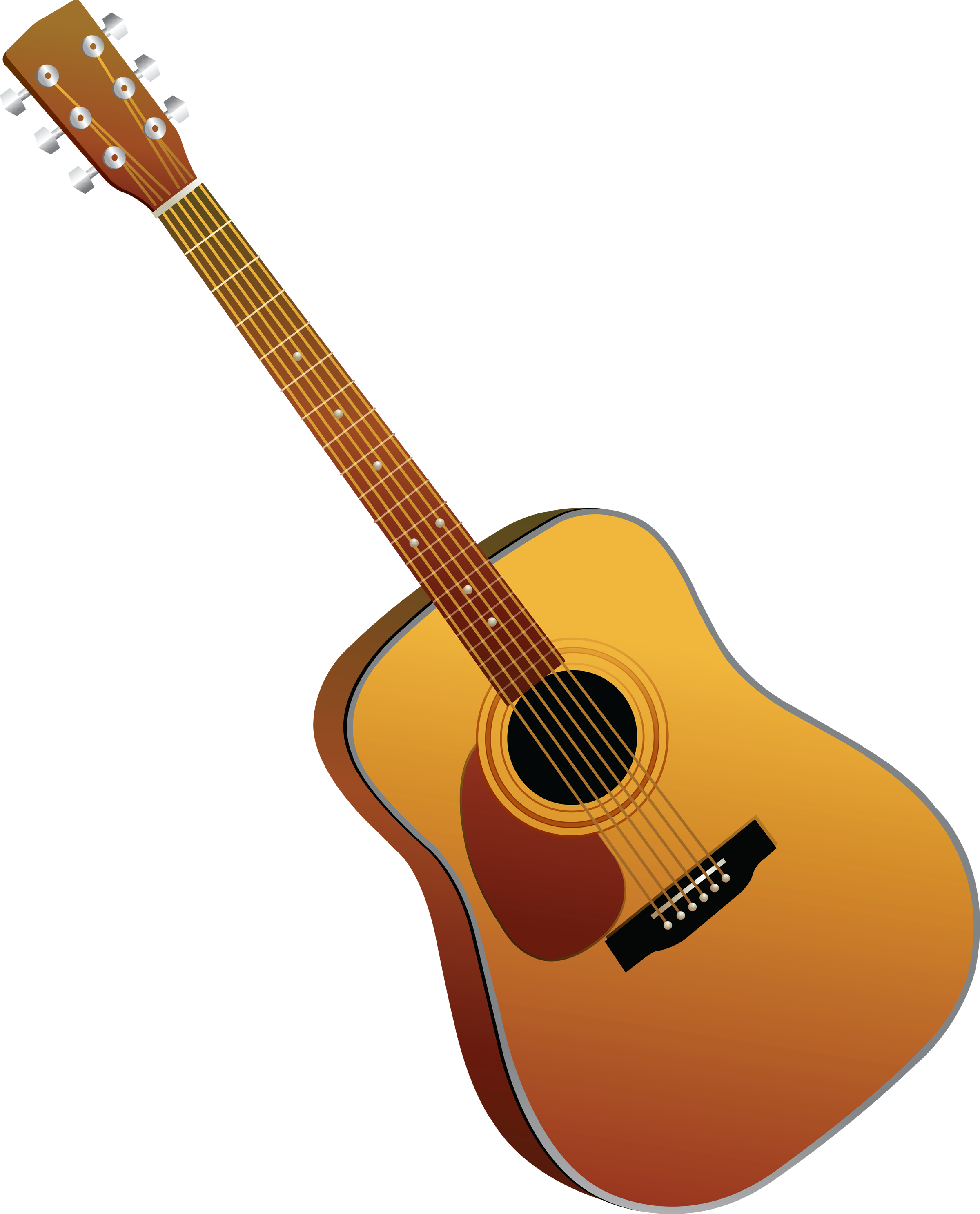 black and white stock Acoustic clipart. Guitar bass free on.
