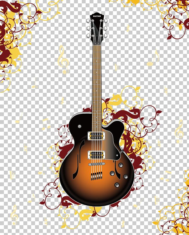 banner royalty free download Acoustic clipart border. Guitar music illustration png