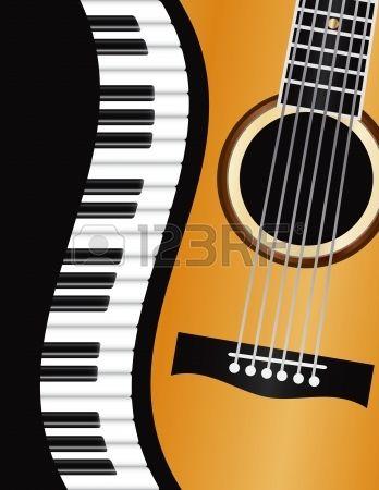 clipart stock Acoustic clipart border. Stock vector guitar piano