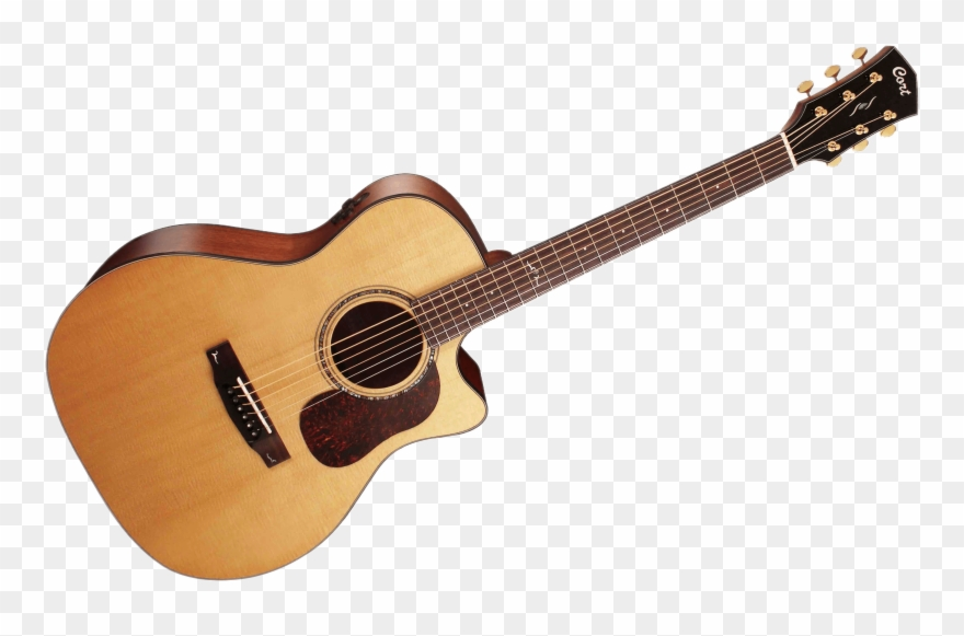 image royalty free library Acoustic clipart cute. Drawing guitar .