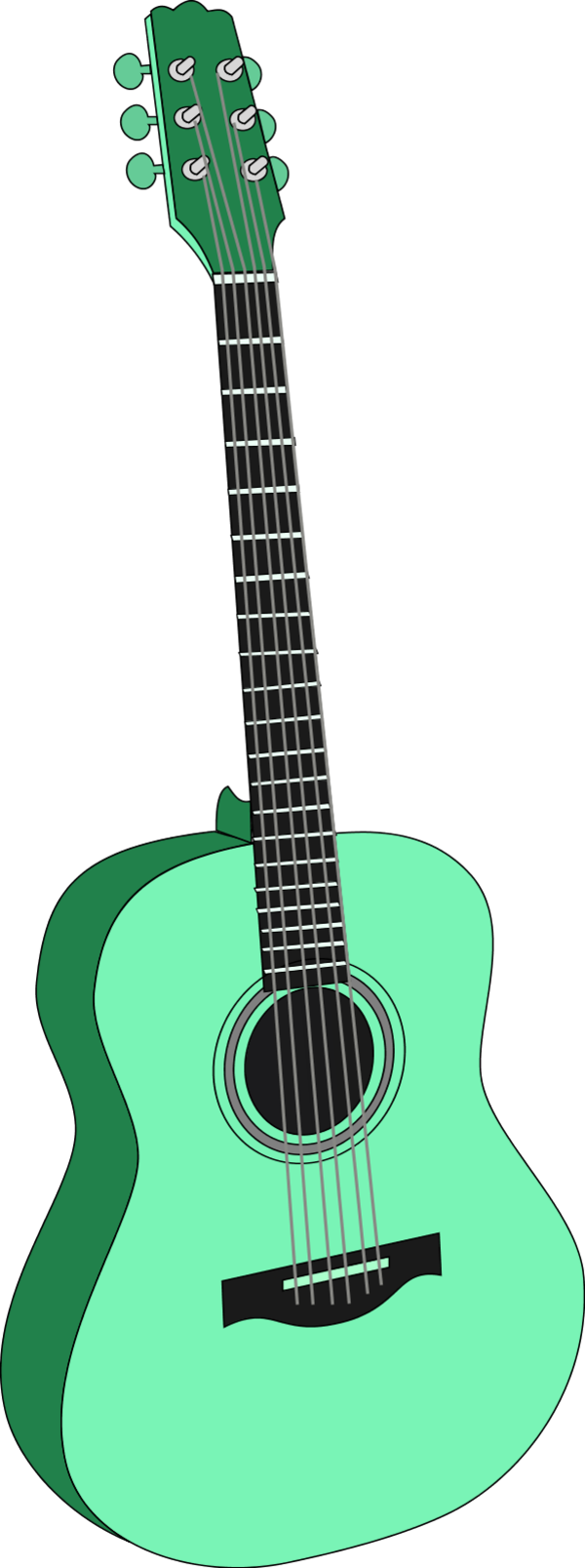 free download Acoustic clipart cute. Riff panda free images.