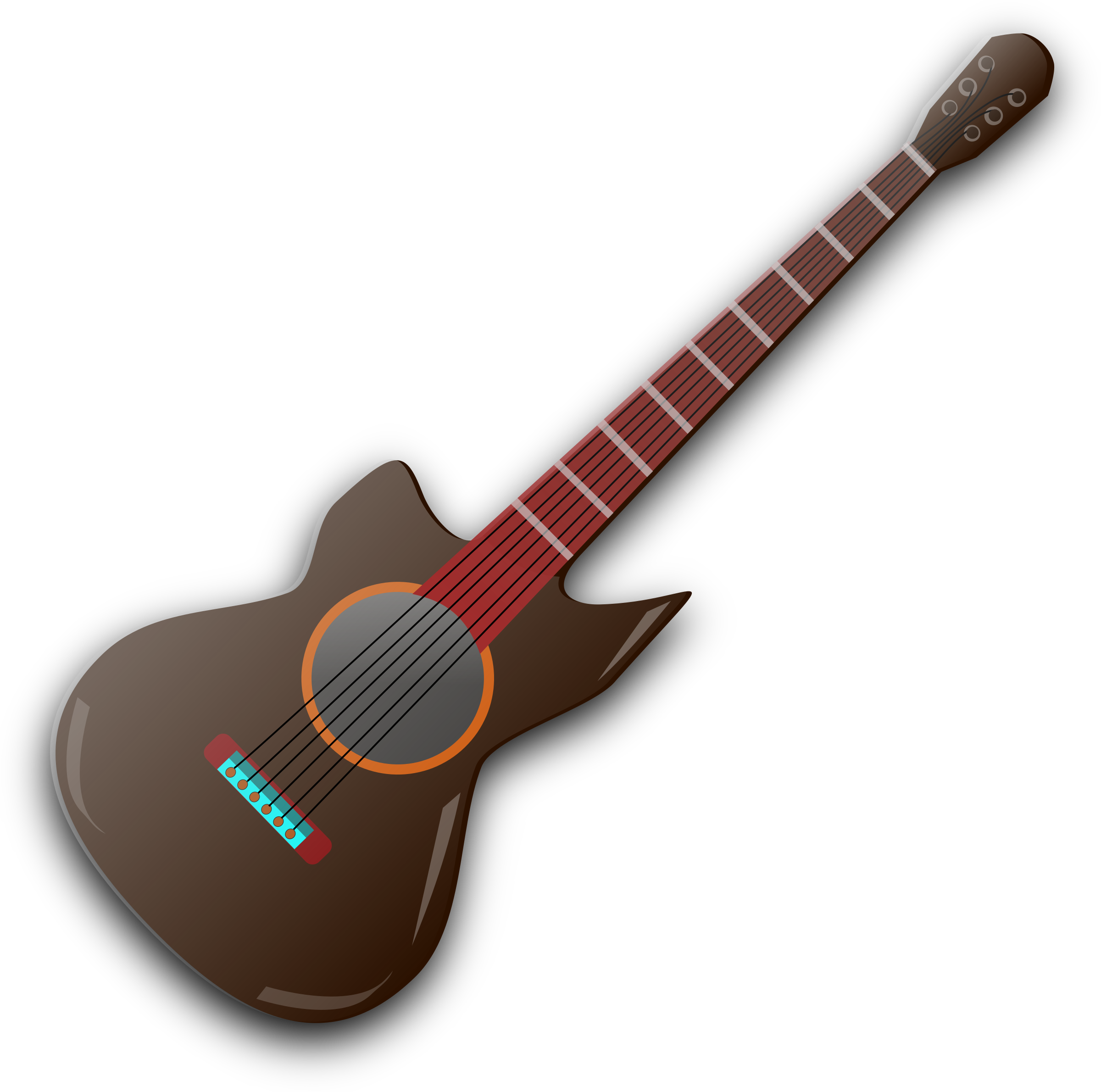 vector library library  cartoon electric bass. Acoustic clipart cute.