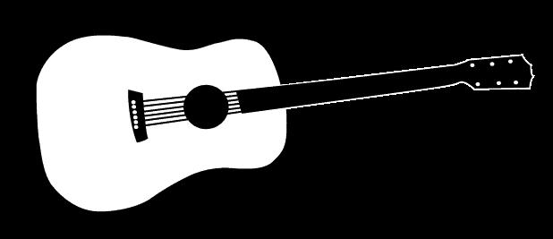 clip Acoustic clipart guita. Guitar panda free images