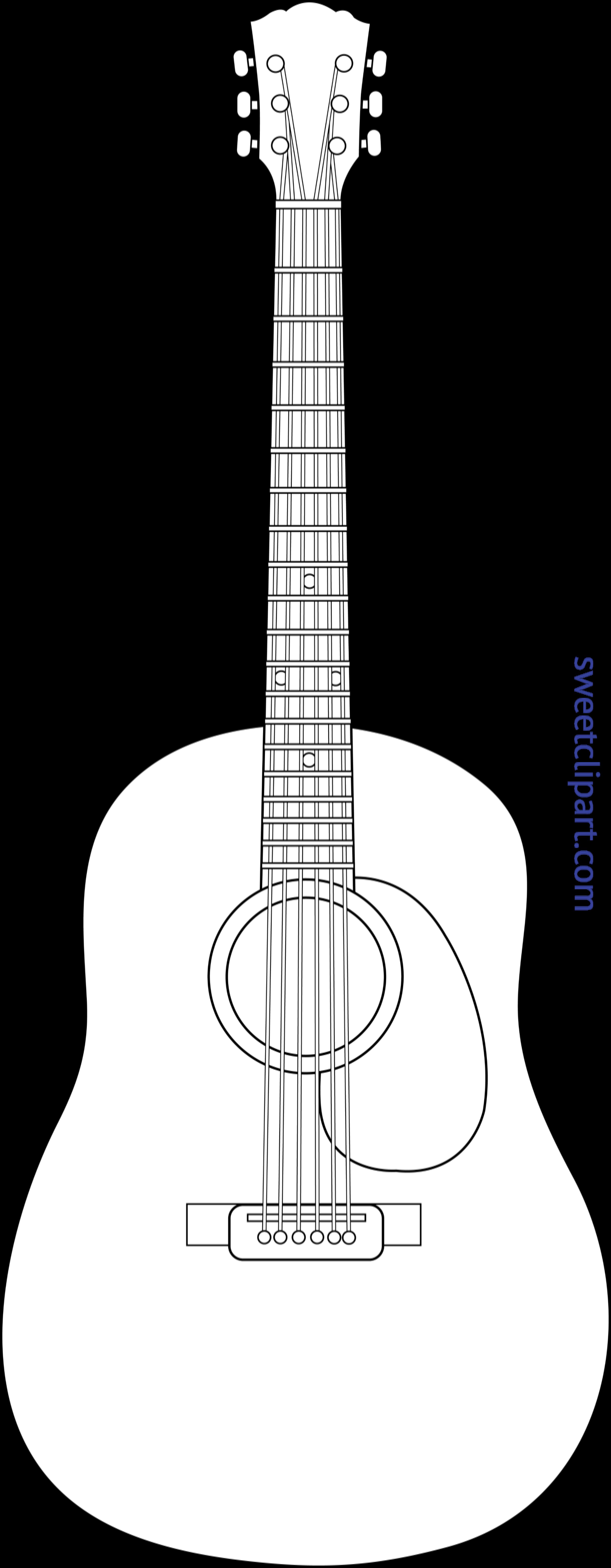 image transparent download Acoustic clipart guita. Guitar lineart clip art