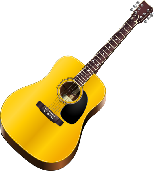 clipart freeuse library Clip art vector online. Typography drawing guitar