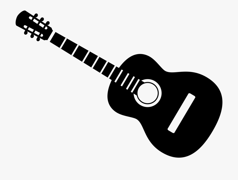 clip black and white Clip art many interesting. Acoustic clipart guitar string.