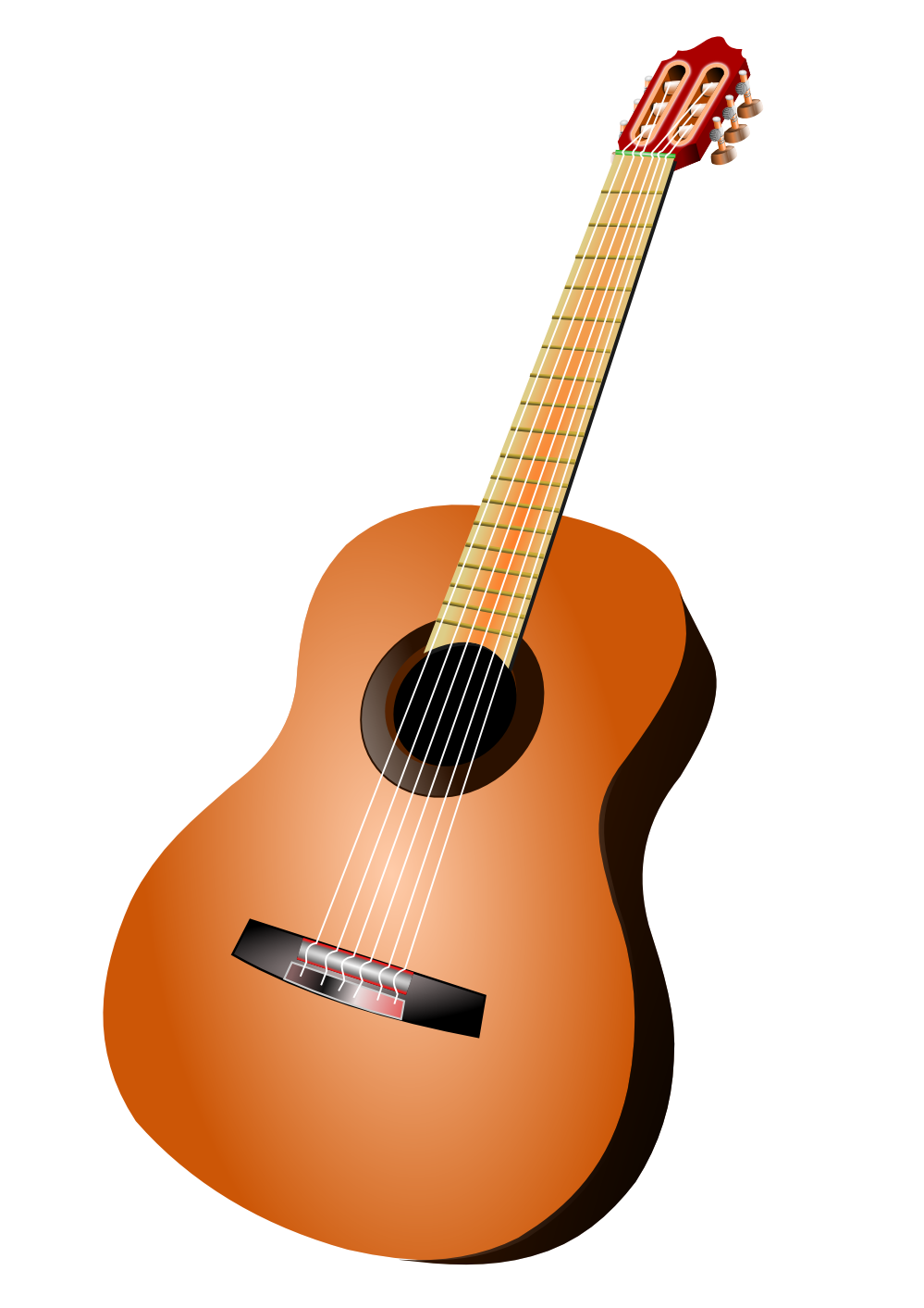 clip art black and white download Acoustic Guitar PNG Image