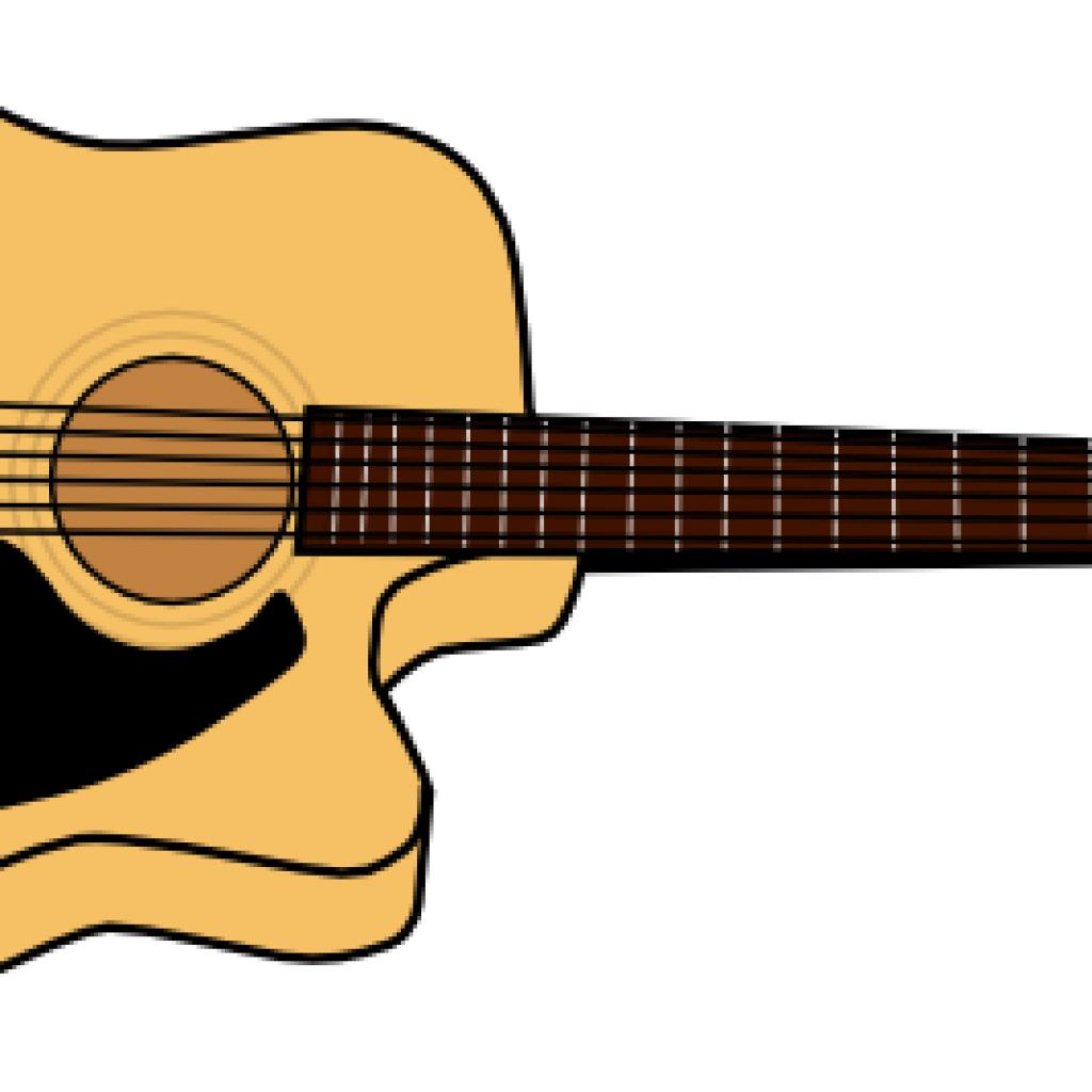 image black and white library Guitar free for download. Acoustic clipart guitarist