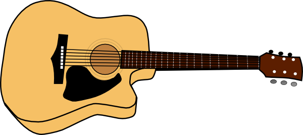 vector freeuse library Acoustic Guitar Picture Clip Art at Clker